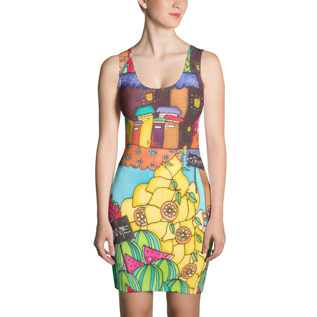 Colorful tight Summer Dress - vivid and garish summer clothes by Somejam - How did this dance get into my pantry? - Strait Dress