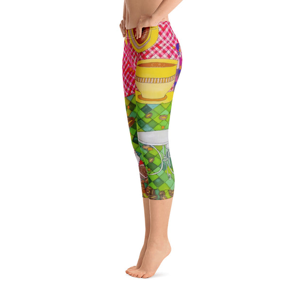 Vivid and bold leggings - colorful and striking summer clothes by Somejam - …is happiness - Capri Legging