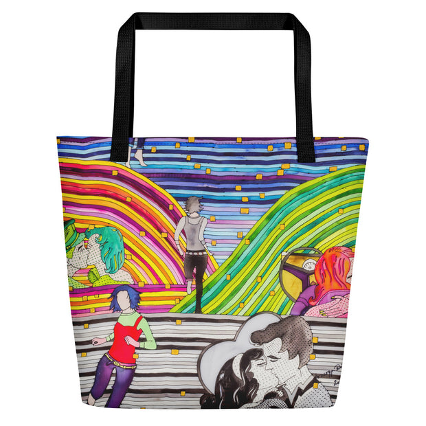 Vivid unique beach bag - colorful and flashy beachwear by Somejam - Hare and Hounds - Beach Bag