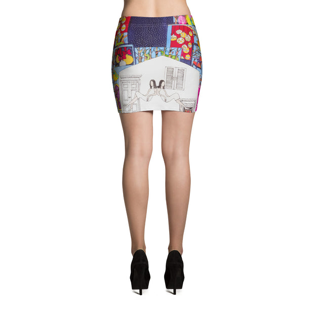Colorful striking mini skirt - vivid and garish summer clothes by Somejam - Advent of 2014 - Mini Skirt