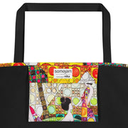 Vivid unique beach bag - colorful and flashy beachwear by Somejam - Amazons out of Amazonas - Beach Bag