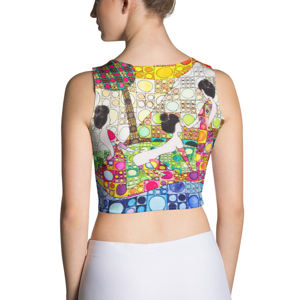 Colorful and bold crop top - striking and flashy women shirts by Somejam - Amazons out of Amazonas - Crop Top
