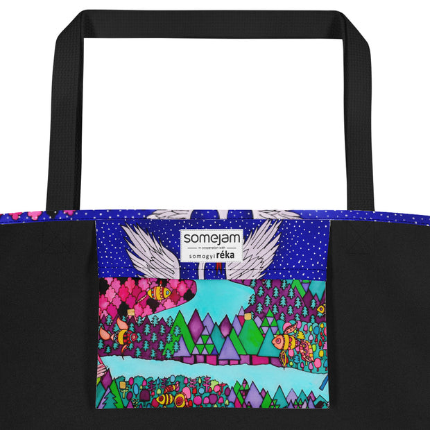 Vivid unique beach bag - colorful and flashy beachwear by Somejam - The big IT - Beach Bag