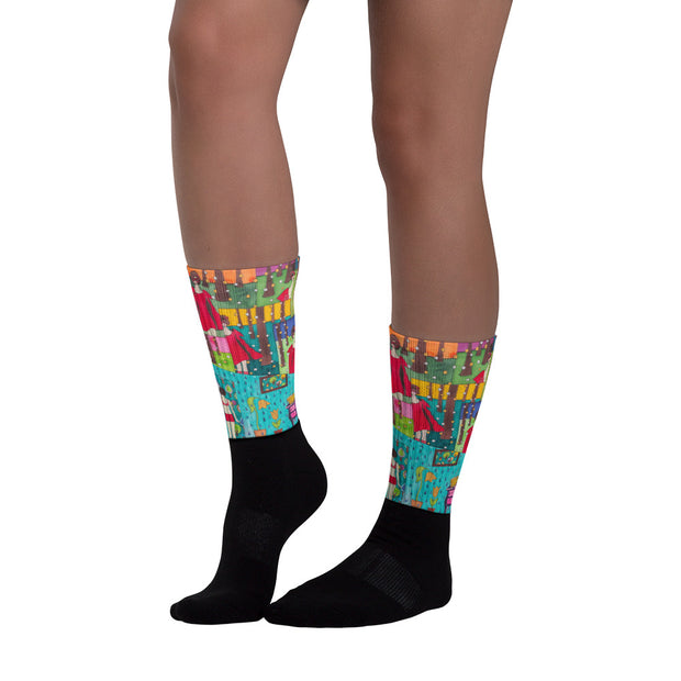 Colorful bold socks - vivid and colorful summer clothes by Somejam - Little Red - Socks