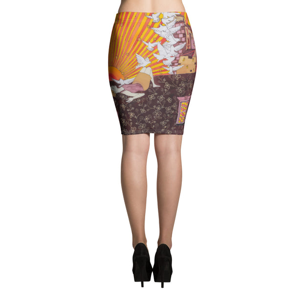Colorful unique pencil skirt - vivid and garish summer clothes by Somejam - Zero point - Pencil Skirt