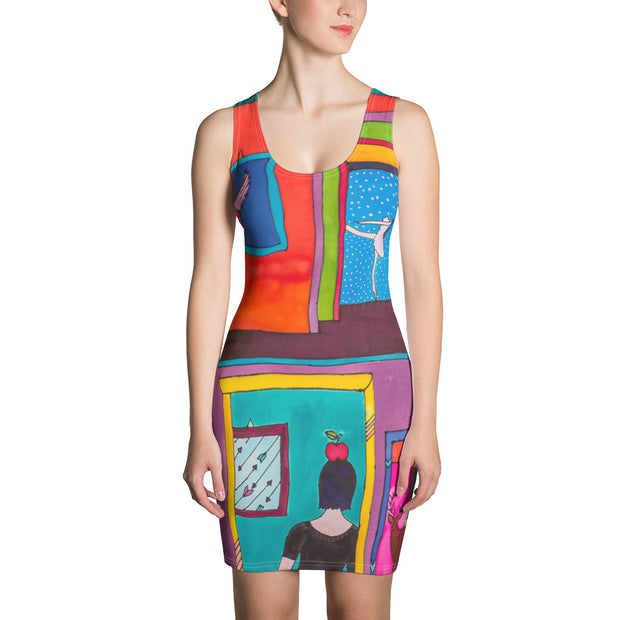 Colorful tight Summer Dress - vivid and garish summer clothes by Somejam - Hope dies last - Strait Dress