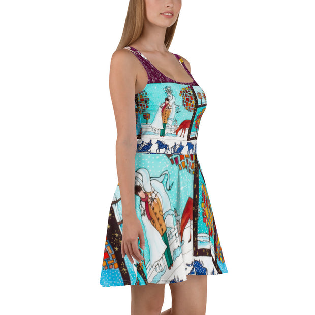 Bold and vivid Summer Dress - colorful and garish summer clothes by Somejam - Bar for those who drink empty cups - Skater Dress