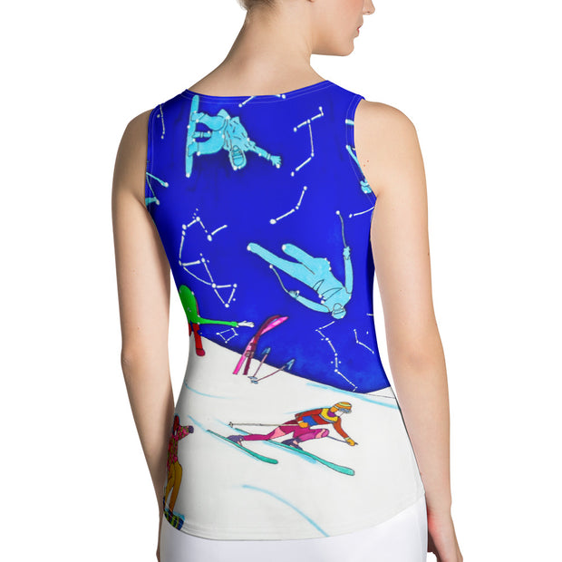 Bold and colorful tank top - striking and garish women shirts by Somejam - I have been a constellation - Tank Top