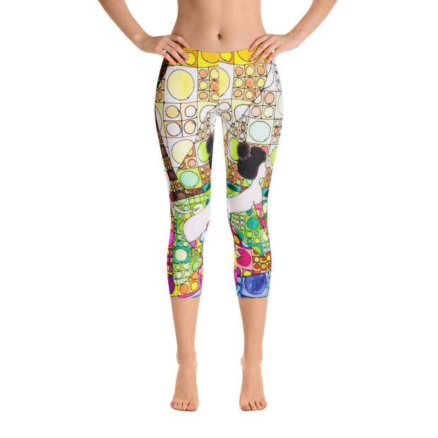Vivid and bold leggings - colorful and striking summer clothes by Somejam - Amazons out of Amazonas - Capri Legging