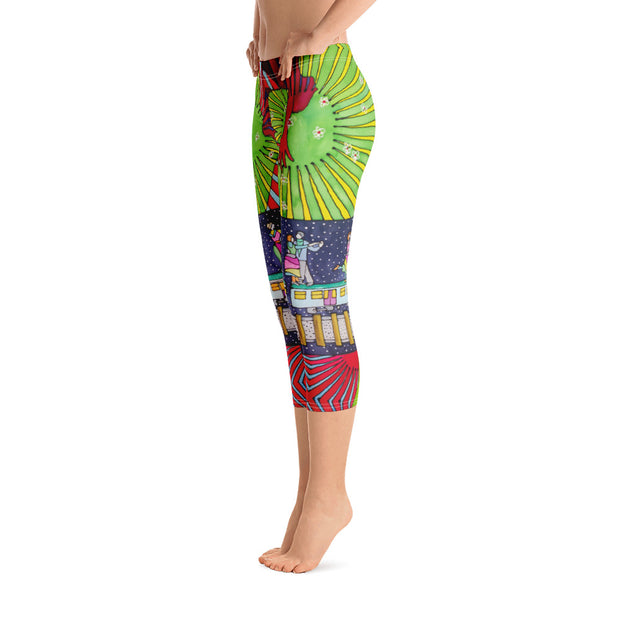 Vivid and bold leggings - colorful and striking summer clothes by Somejam - Asimmetry in Simmetry - Capri Legging