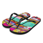 Colorful unique flip-flops - vivid and bold beachwear by Somejam - The Princess and the Pea - Flip-Flops