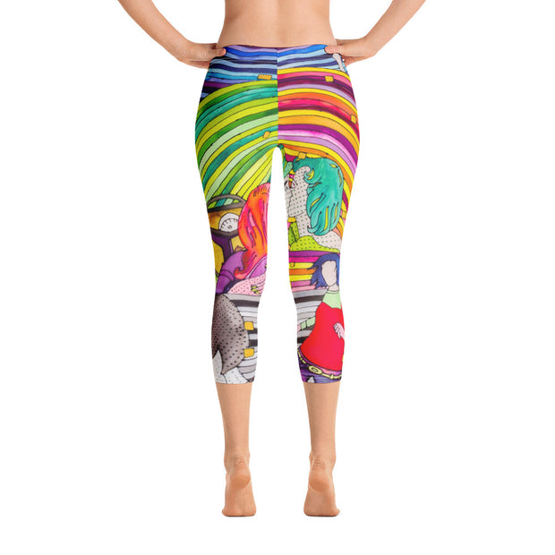 Vivid and bold leggings - colorful and striking summer clothes by Somejam - Hare and Hounds - Capri Legging