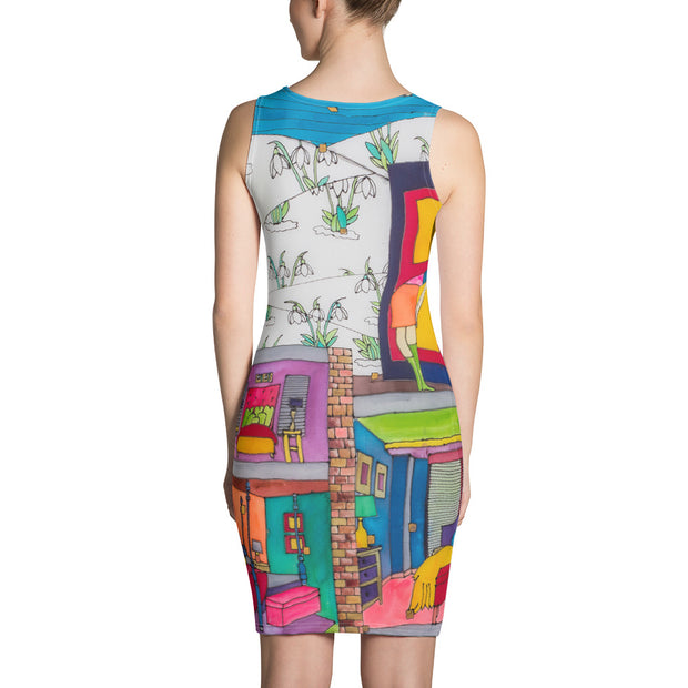 Colorful tight Summer Dress - vivid and garish summer clothes by Somejam - What do you see on the picture? - Strait Dress