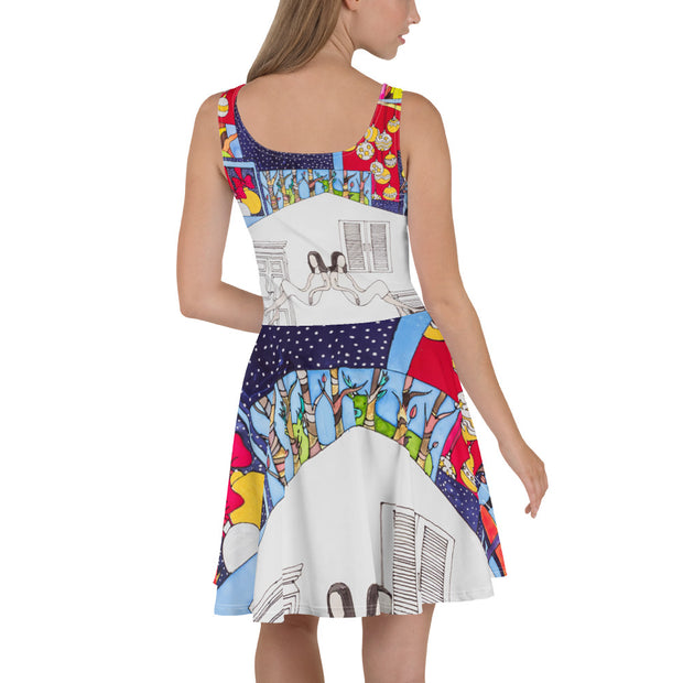 Bold and vivid Summer Dress - colorful and garish summer clothes by Somejam - Advent of 2014 - Skater Dress