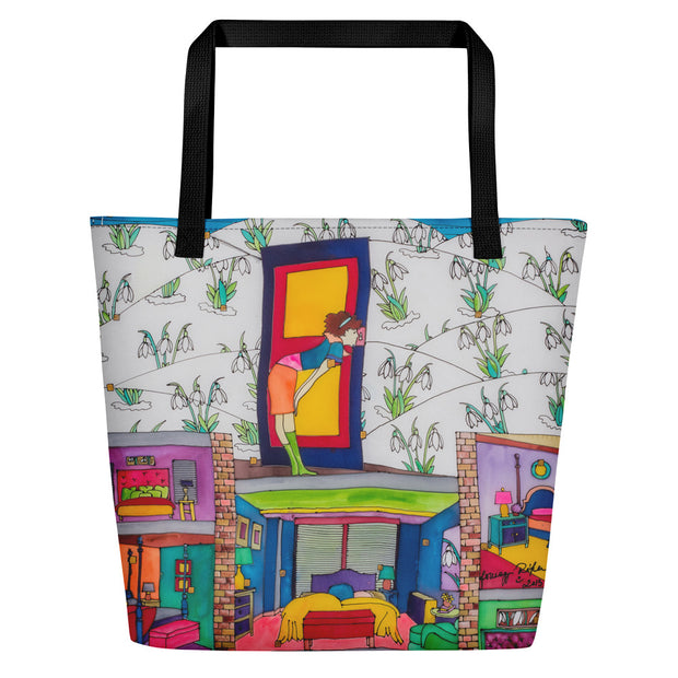 Vivid unique beach bag - colorful and flashy beachwear by Somejam - What do you see on the picture? - Beach Bag