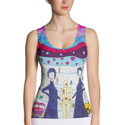 Bold and colorful tank top - striking and garish women shirts by Somejam - To all my lovers - Tank Top
