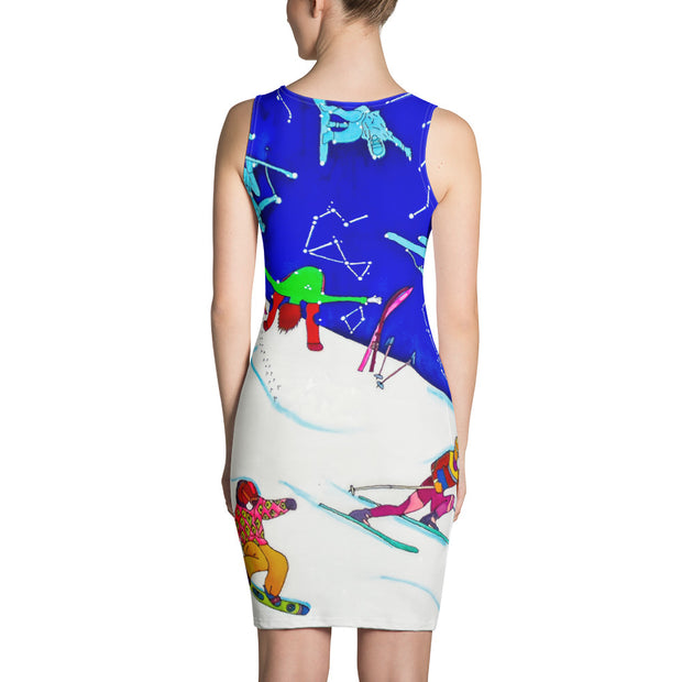 Colorful tight Summer Dress - vivid and garish summer clothes by Somejam - I have been a constellation - Strait Dress