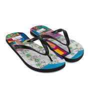 Colorful unique flip-flops - vivid and bold beachwear by Somejam - What do you see on the picture? - Flip-Flops