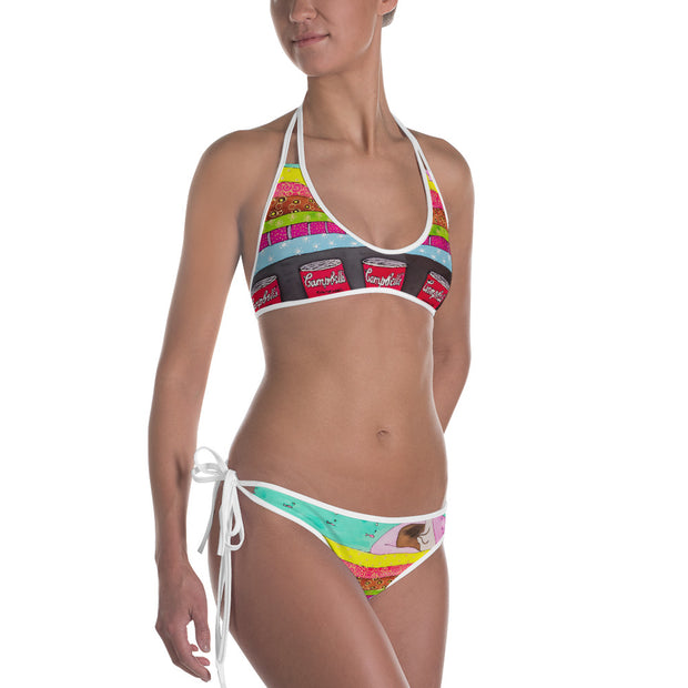 Unique and reversible bikini - colorful and vivid beachwear by Somejam - The Princess and the Pea - Bikini