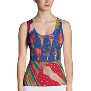Bold and colorful tank top - striking and garish women shirts by Somejam - Don't be afraid of melting - Tank Top