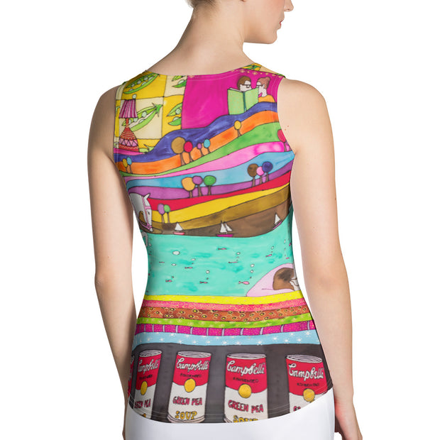 Bold and colorful tank top - striking and garish women shirts by Somejam - The Princess and the Pea - Tank Top