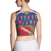 Colorful and bold crop top - striking and flashy women shirts by Somejam - Don't be afraid of melting - Crop Top