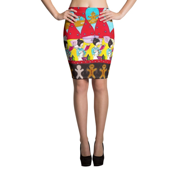 Colorful unique pencil skirt - vivid and garish summer clothes by Somejam - December love - Pencil Skirt