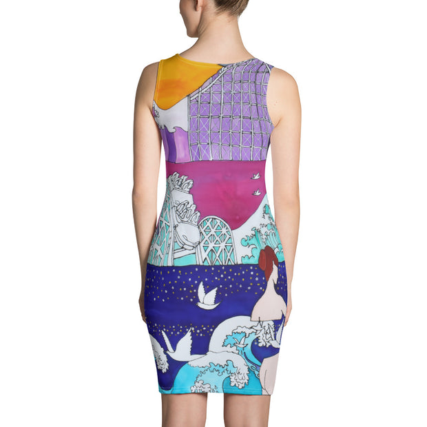 Colorful tight Summer Dress - vivid and garish summer clothes by Somejam - Pentecostal roller coaster - Strait Dress