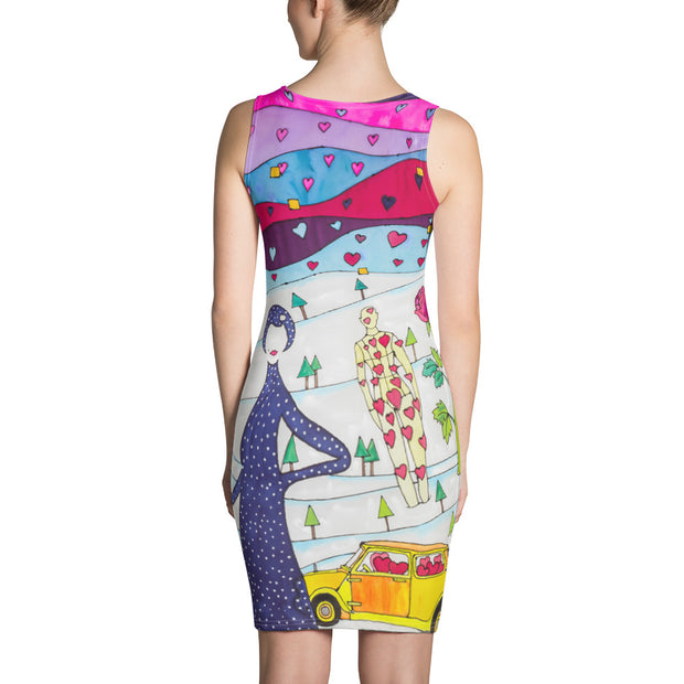 Colorful tight Summer Dress - vivid and garish summer clothes by Somejam - To all my lovers - Strait Dress