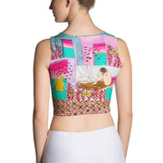 Colorful and bold crop top - striking and flashy women shirts by Somejam - My little raft - Crop Top
