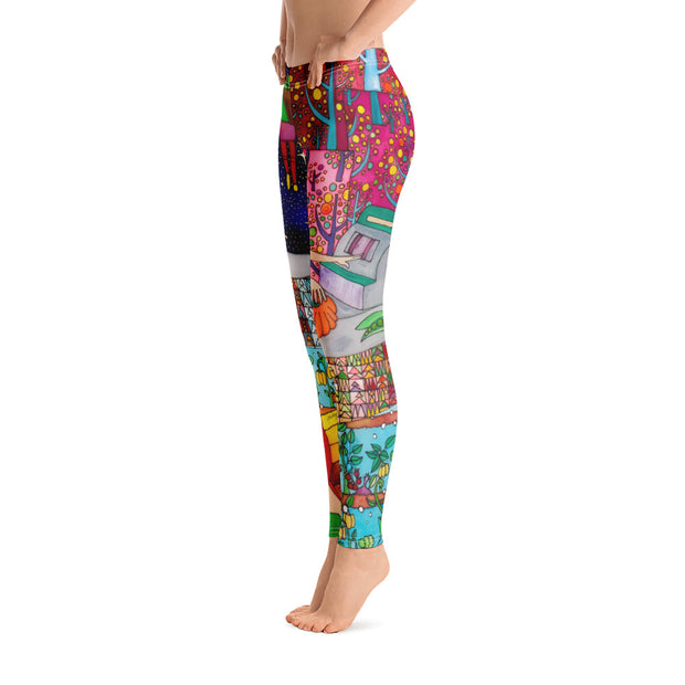 Bold and vivid leggings - colorful and garish yoga pants by Somejam - On a star – in a star - Basic Legging