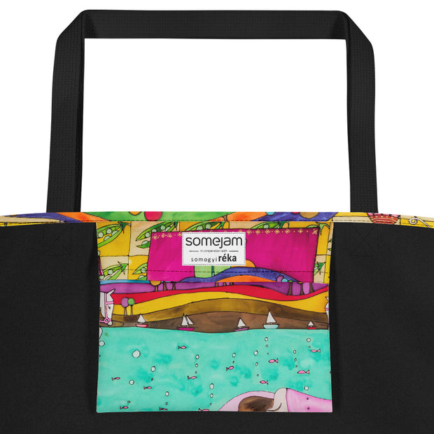 Vivid unique beach bag - colorful and flashy beachwear by Somejam - The Princess and the Pea - Beach Bag