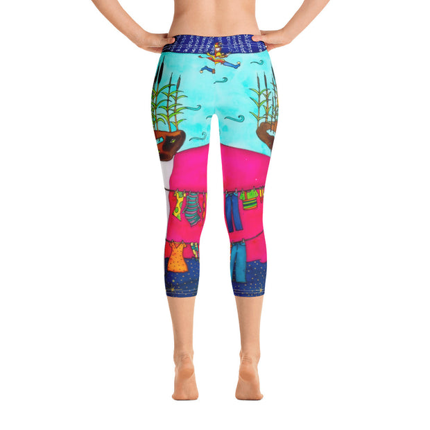 Vivid and bold leggings - colorful and striking summer clothes by Somejam - Make the Fool jump instead of me - Capri Legging