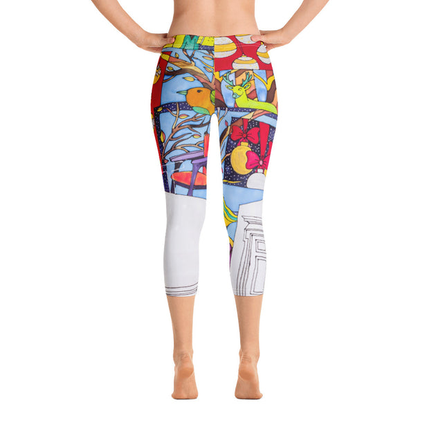 Vivid and bold leggings - colorful and striking summer clothes by Somejam - Advent of 2014 - Capri Legging