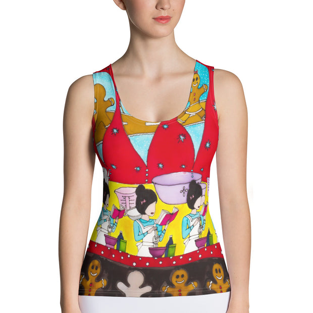 Bold and colorful tank top - striking and garish women shirts by Somejam - December love - Tank Top