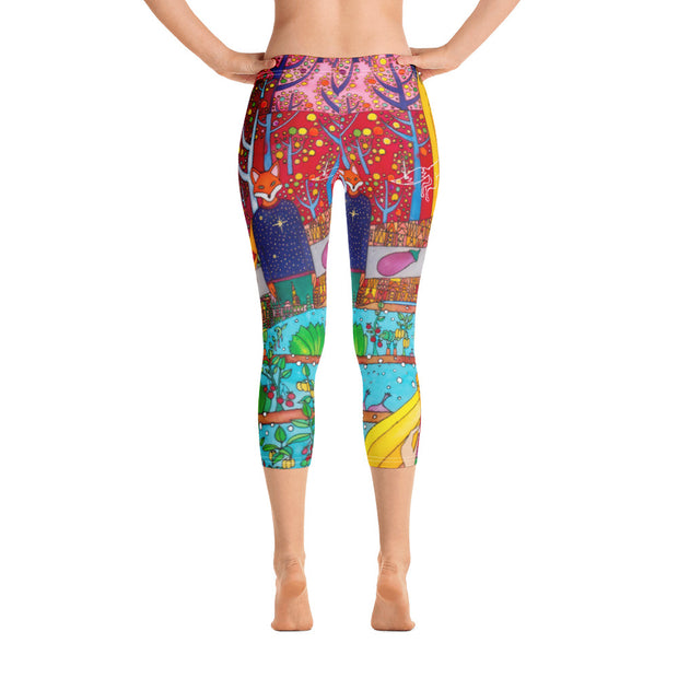 Vivid and bold leggings - colorful and striking summer clothes by Somejam - On a star – in a star - Capri Legging