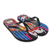 Colorful unique flip-flops - vivid and bold beachwear by Somejam - Self-portrait 2011 - Flip-Flops