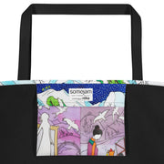 Vivid unique beach bag - colorful and flashy beachwear by Somejam - Show me your sorrow - Beach Bag