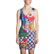 Colorful tight Summer Dress - vivid and garish summer clothes by Somejam - Self-portrait 2011 - Strait Dress