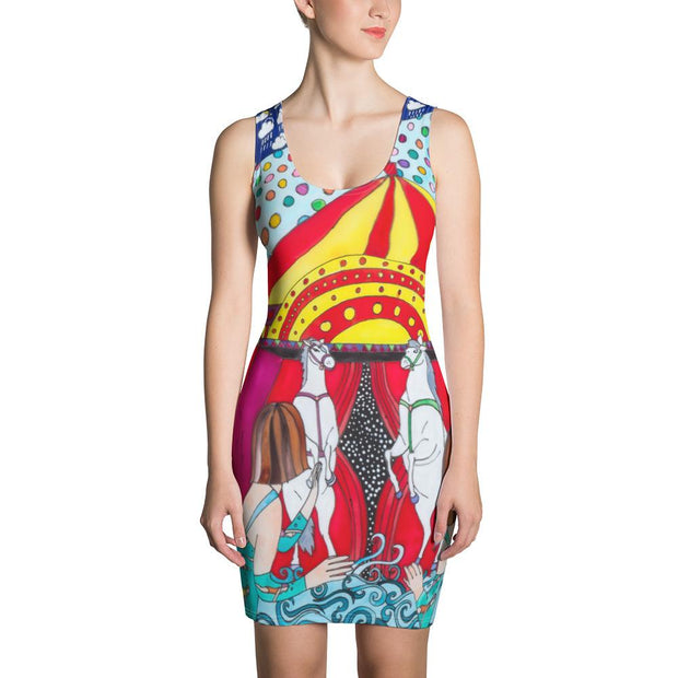 Colorful tight Summer Dress - vivid and garish summer clothes by Somejam - The circus has surrendered - Strait Dress