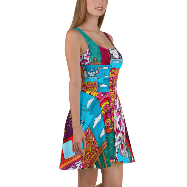 Bold and vivid Summer Dress - colorful and garish summer clothes by Somejam - Fatally sweet - Skater Dress