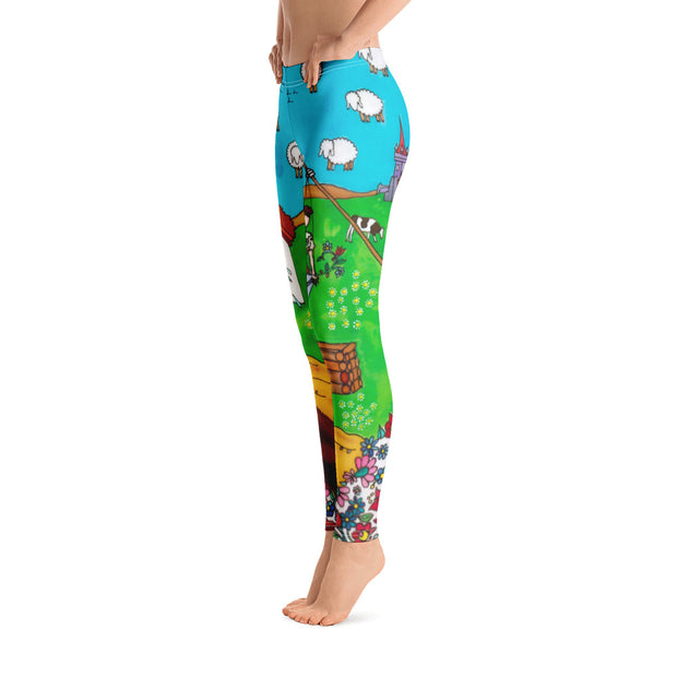 Bold and vivid leggings - colorful and garish yoga pants by Somejam - Mind – the wife of the heart - Basic Legging