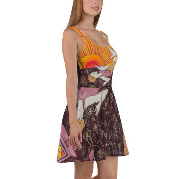 Bold and vivid Summer Dress - colorful and garish summer clothes by Somejam - Zero point - Skater Dress
