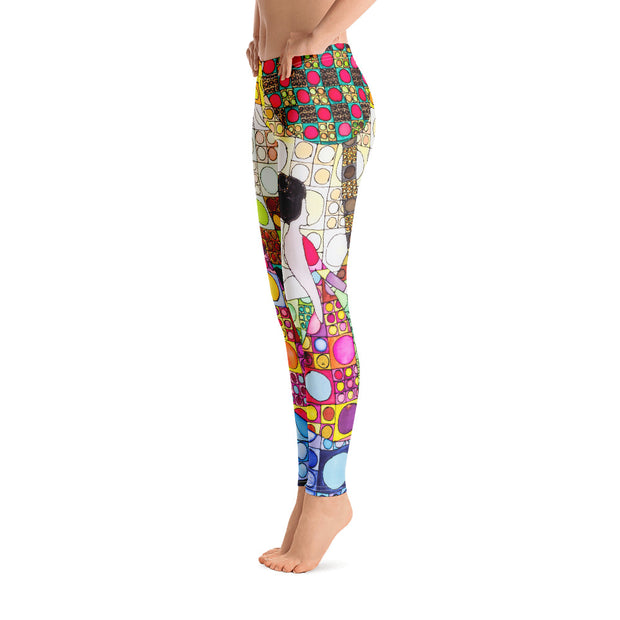 Bold and vivid leggings - colorful and garish yoga pants by Somejam - Amazons out of Amazonas - Basic Legging