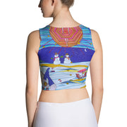 Colorful and bold crop top - striking and flashy women shirts by Somejam - Make waves move mountains! - Crop Top