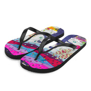 Colorful unique flip-flops - vivid and bold beachwear by Somejam - To all my lovers - Flip-Flops