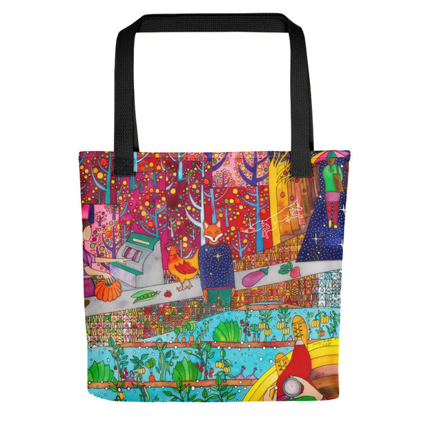Unique and conspicuous tote bag - colorful and striking women clothing by Somejam - On a star – in a star - Tote bag