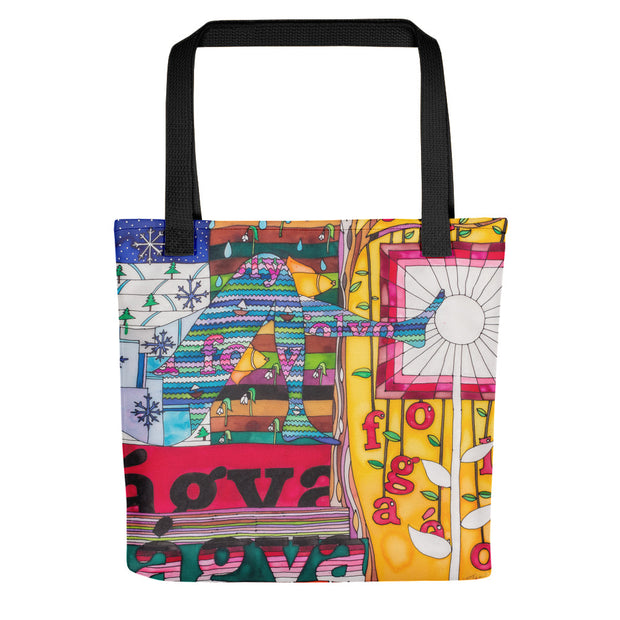 Unique and conspicuous tote bag - colorful and striking women clothing by Somejam - Bed of the river - Tote bag