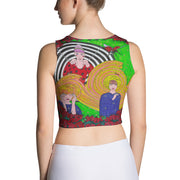 Colorful and bold crop top - striking and flashy women shirts by Somejam - Du bist! - Crop Top