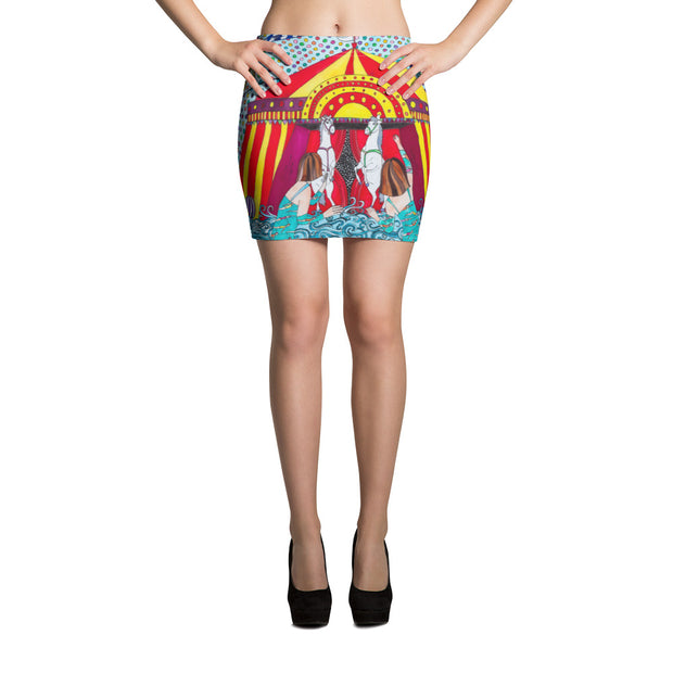 Colorful striking mini skirt - vivid and garish summer clothes by Somejam - The circus has surrendered - Mini Skirt